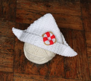 Crochet Paper Boat Hat