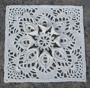 Crochet Block Vintage Pattern Puritan Bedspread
