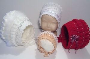 As you like it Baby Bonnet Crochet