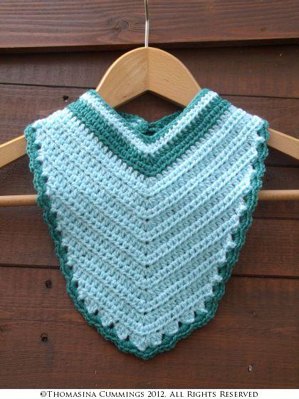 Crochet Bandana Bib Thomasina Cummings Designs
