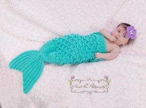 Under the Sea Crochet Baby Mermaid Prop
